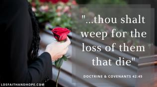 Weep for those that die